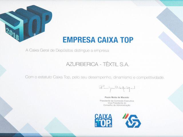 Azuriberica Têxtil, S.A, foi distinguida pela Caixa Geral de Depósitos